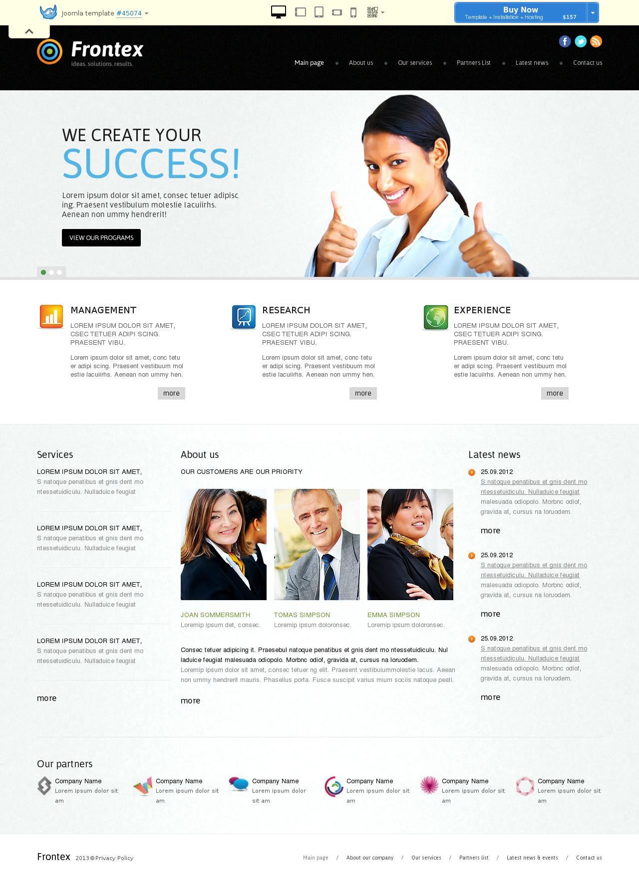Investment Business Online Joomla Template #45074
