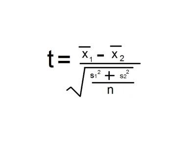 t test formula