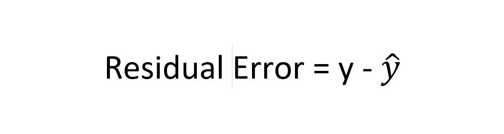 residual error in regression machine learning