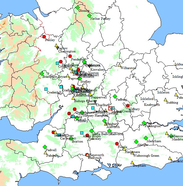Place-names with personal names associated with early Mercian kings