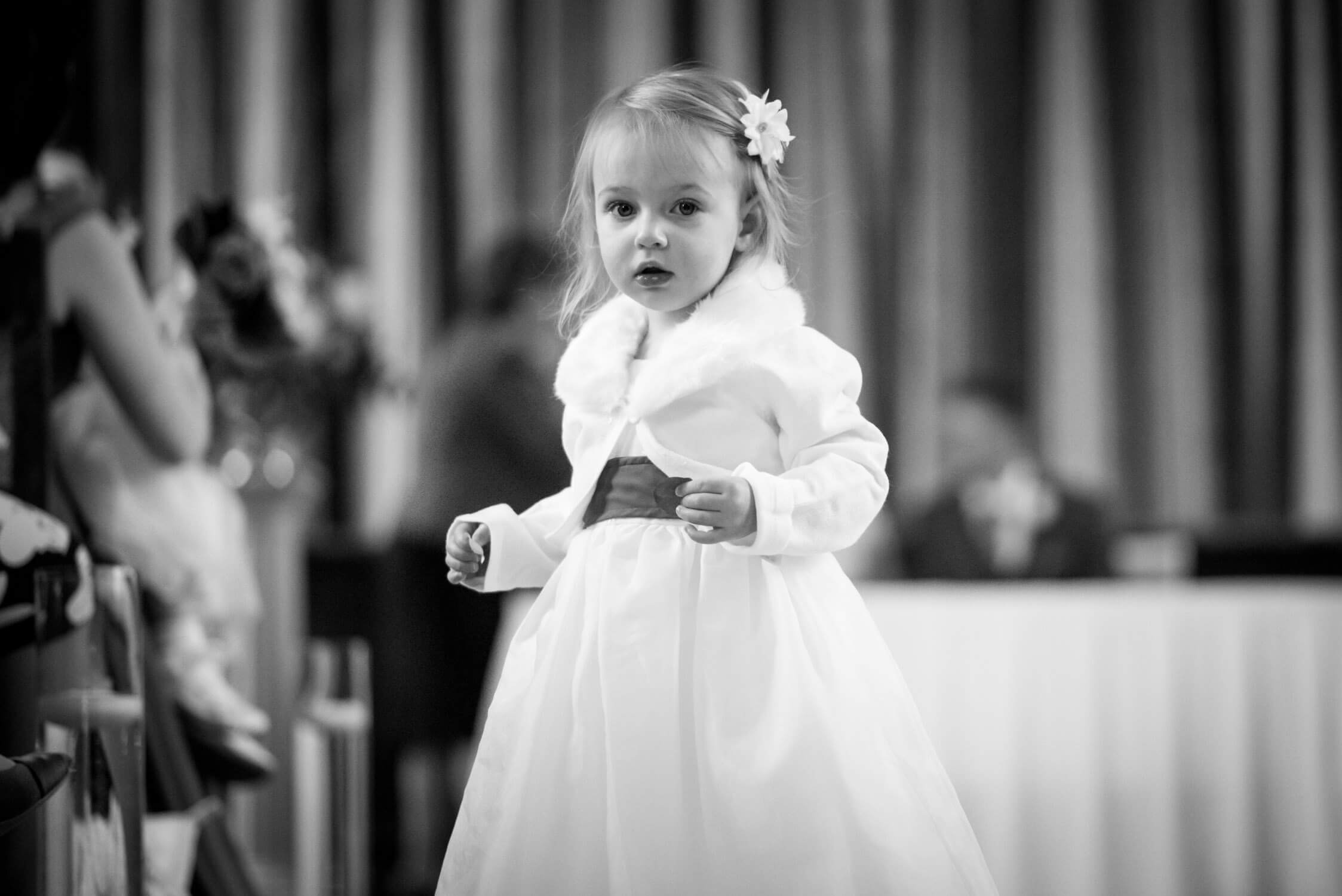 Second Flower Girl At Tylney Hall