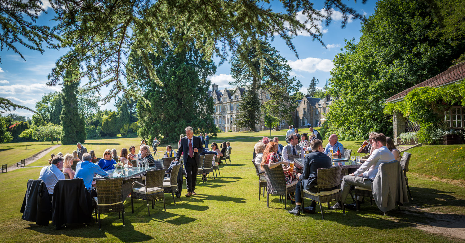 Fabulous grounds at Ashdown Park Hotel wedding