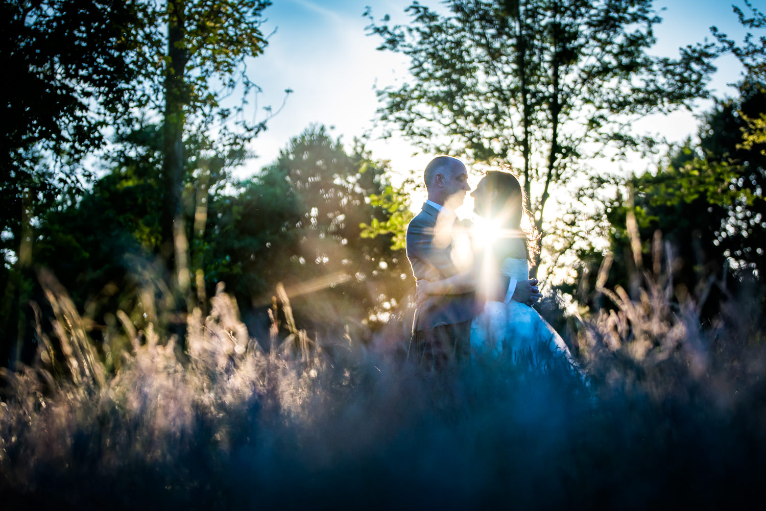 bride and groom at Ashdown Park Wedding Photographer
