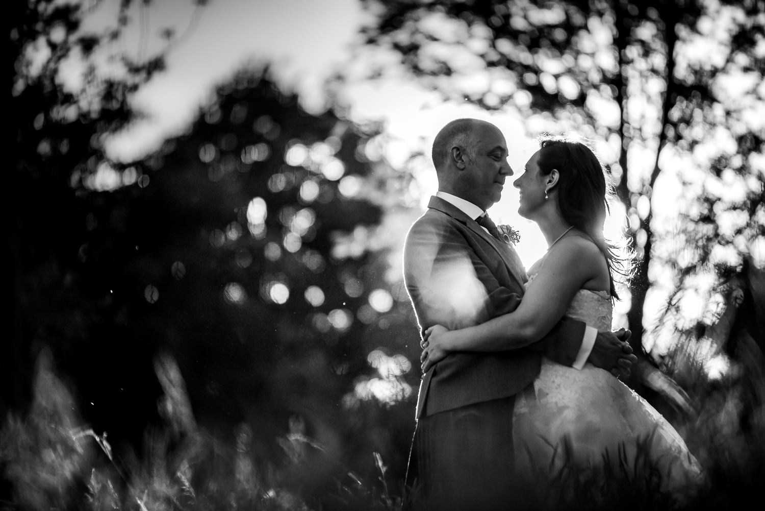 Ashdown Park Wedding Photographer Joel Davies making the most of the grounds and sunset