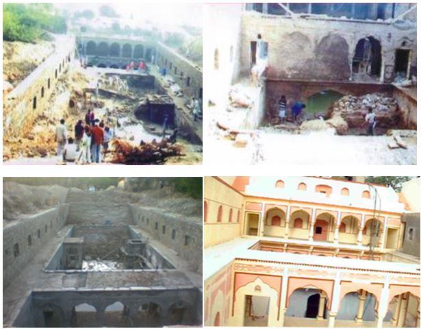 Sarai Bawari - Restoration work in progress.