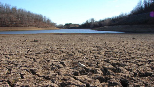 Drying lake bed. Native American Proverb.