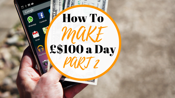 How To Make 100 a day, really simple way to make 100 a day with no outlay and no skills or website needed.