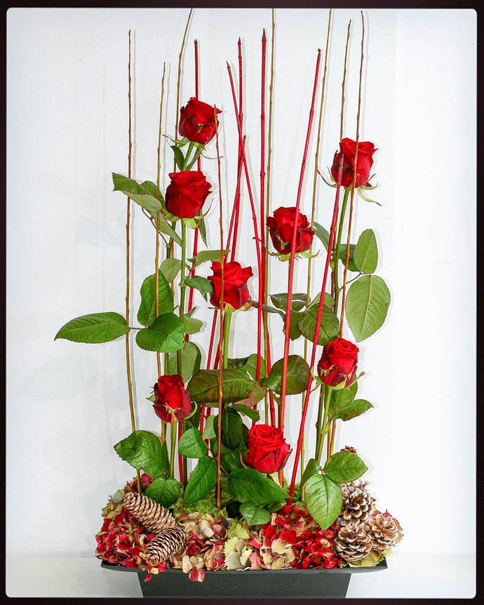 Christmas wreaths, garlands, table centrepieces, created by Garland