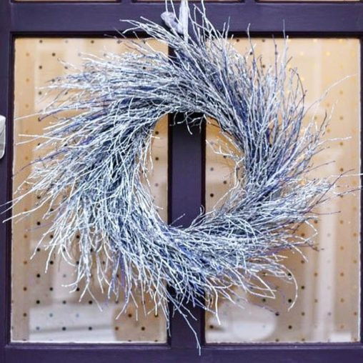 Everlasting Christmas wreath with silver birch