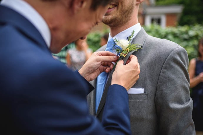Groomsman boutonniere, created by Garland
