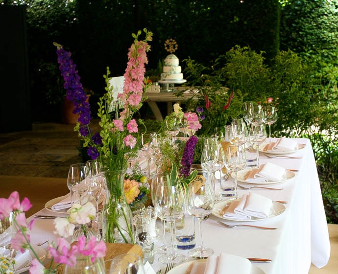 Relaxed garden style flowers for a Country Garden wedding, created by Garland