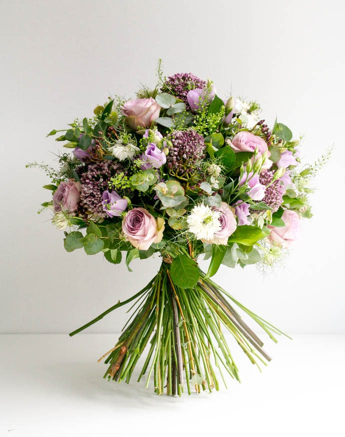 Nigella, Allium and Roses Bouquet