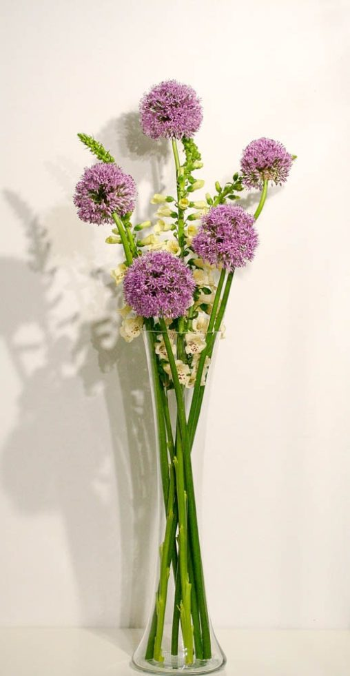 Gladiator Allium and Snapdragons create a stunning office floral display
