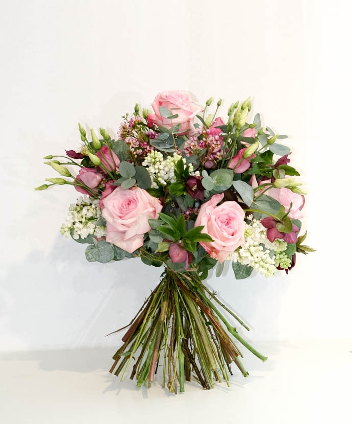 Mother's Day Flowers, Pink rose and lilac bouquet, designed by north London florist Garland
