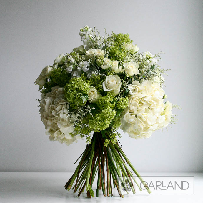 White Goddess Bouquet - created by Garland Flowers, London