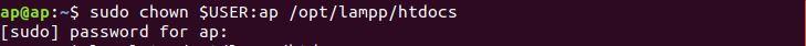 Ubuntu Permission chown local sever folder