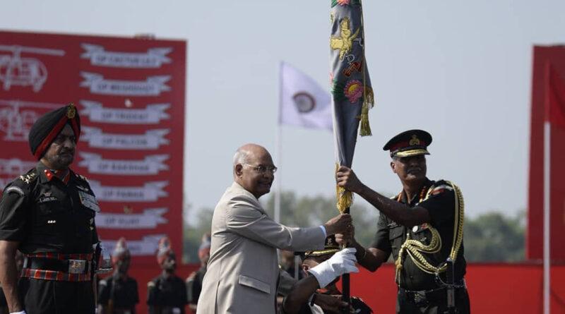 राष्ट्रपति रामनाथ कोविंद ने सेना विमानन कोर को दिया प्रेसिडेंट्स कलर्स अवार्ड...