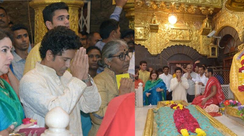 साईं दरबार में सचिन तेंदुलकर परिवार समेत किये, चरण पादुका की पूजा...