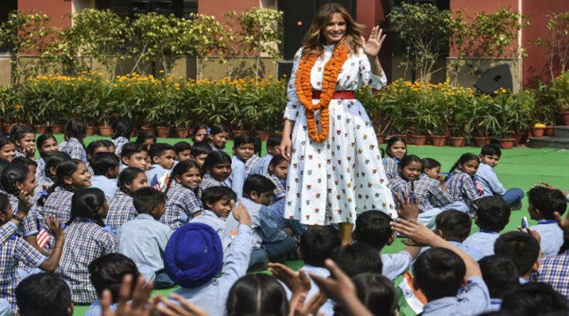 दिल्ली: मेलानिया ट्रंप ने बच्चों के सवालों का कुछ यूं दिया जवाब...