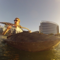 hemp kayak and paddle