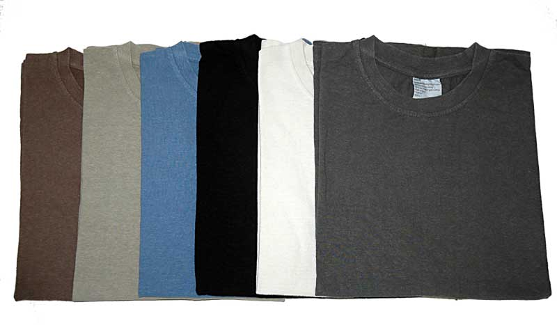 hemp t shirt colors
