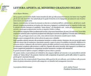 Lettera aperta al Ministro Delrio, pubblicata sul Corriere della Sera edizione 18 marzo 2017