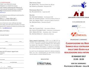 CLASSIFICAZIONE DEL RISCHIO SISMICO DELLE COSTRUZIONI