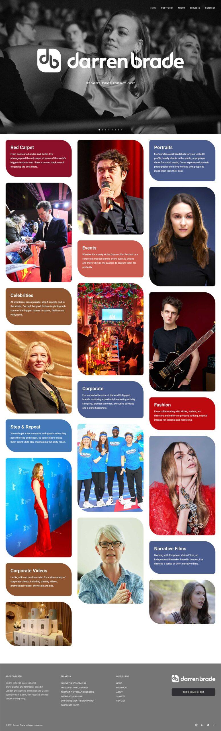 Darren Brade Website