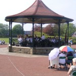 Sunday afternoon bandstand - Consett May 2008