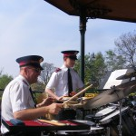 Percussion section - Consett May 2008