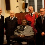Clarence Adoo with BM Jonathan Corry, BM James Williams, BSec Stuart Horton and Richard Martin - Stockton October 2012