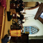 Preparing for the concert at St Marys Church Gt Baddow