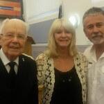 Former bandsman Martyn Evans with Bandmaster James Williams.