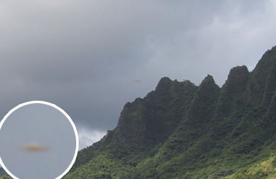 Picture Of UFO above Hawaii Mountain taken By Skeptic