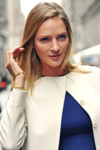 Image of Uma Thurman attending Fashion Week in New York City in 2011: photographed by Jiyang Chen.