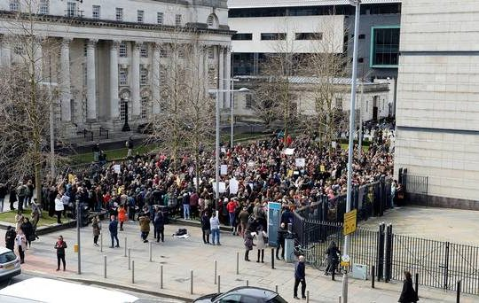 Ireland Rugby Rape Acquittal Leads Causes Protests In Belfast