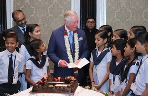 Prince Charles Receives Birthday  Song And Present From Indian School Children