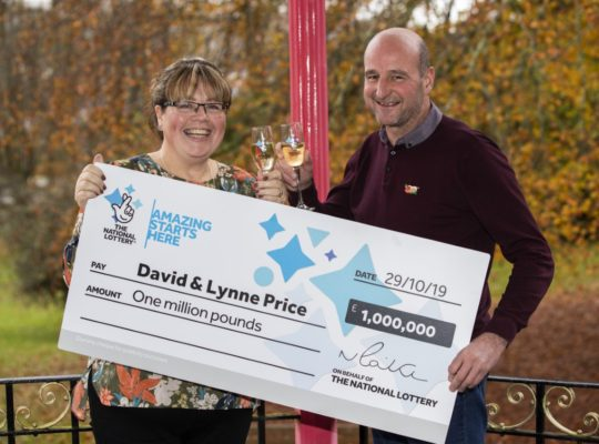 Lottery Winning Couple Celebrate Incredible Lucky Win