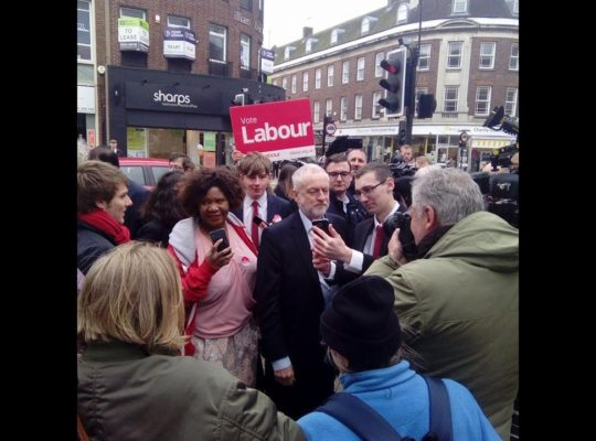 Jeremy Corbyn Rallies For Final Hour Labour Support