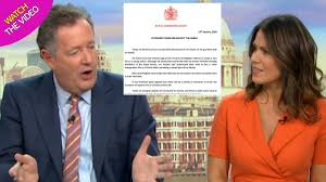 Piers Morgan Admission To Bullying Susanna Reid Is Unacceptable