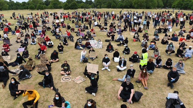 Hundreds Of Brits Join Black Lives Matter Protest In Hyde Park