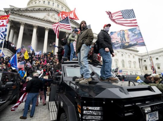 U.S Protesters Spark Violence In Capitol Hill Over Electoral College Votes  Certification