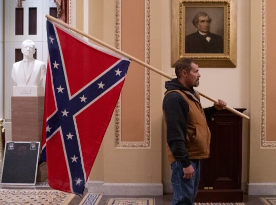 FBI Arrest Man Carrying Confederate Flag During Capitol Hill Siege