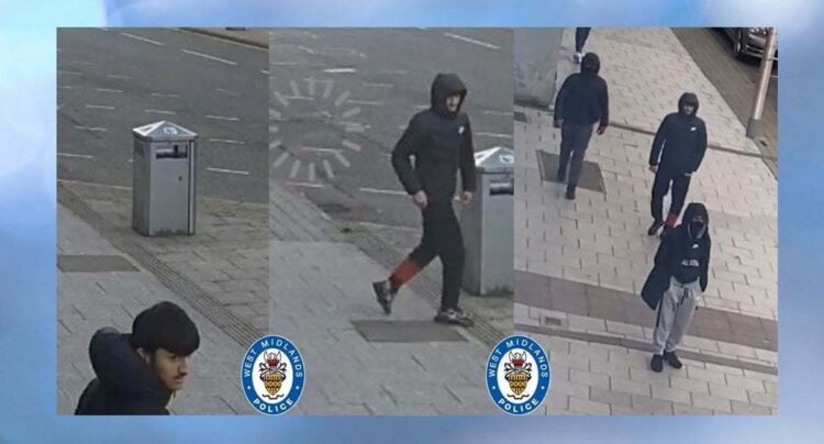 Sandwell Police Release CCTV Images Of Violent Thugs Who Robbed Victim