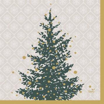 Servietten Weihnachten Trees in Gold Duni