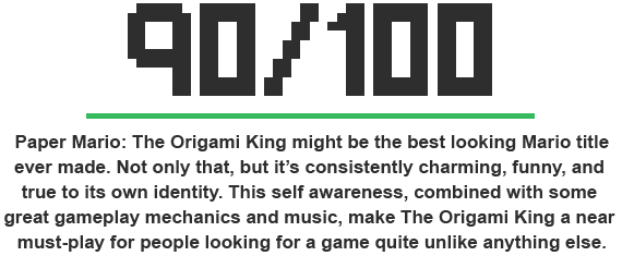 the origami king score image