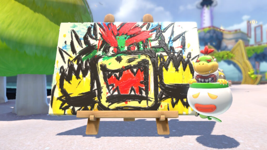Bowser's Fury painting
