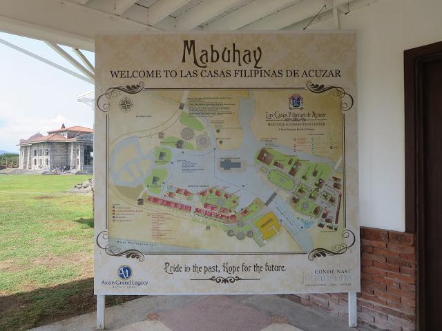 tourist map at las casas bataan