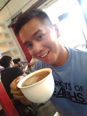 big cup of americano coffee