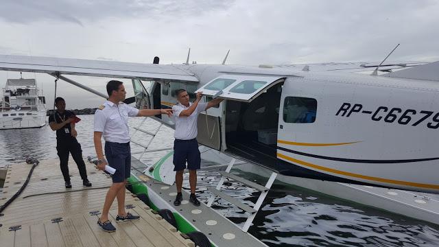 boarding air juan seaplane